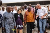 H.E President Nana Addo Dankwa Akufo Addo commissioned a Greenhouse capacity building and commercial centre in Akumada