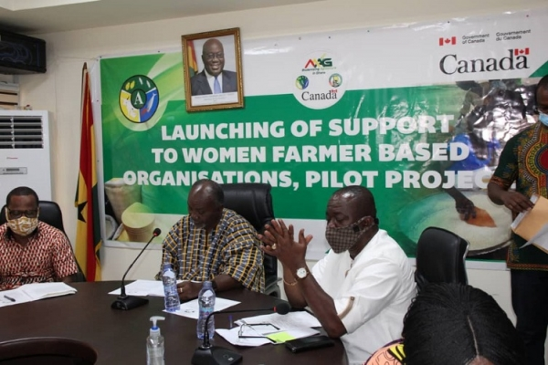 Ministry of Food and Agriculture and  Global Affairs Canada announced  a GHC 2.5 million pilot support to Women's Farmer-Based Organizations (WFBOs)
